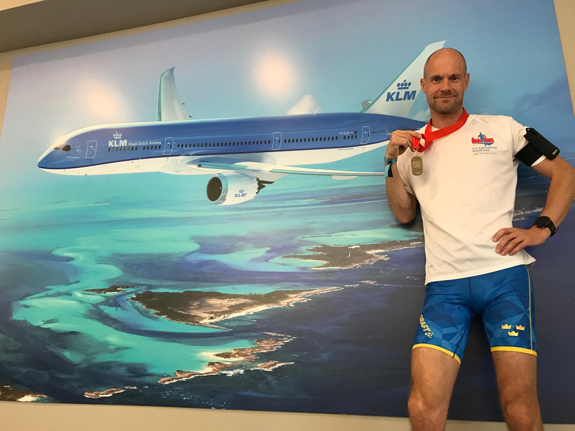 KLM lounge Amsterdam Marathon