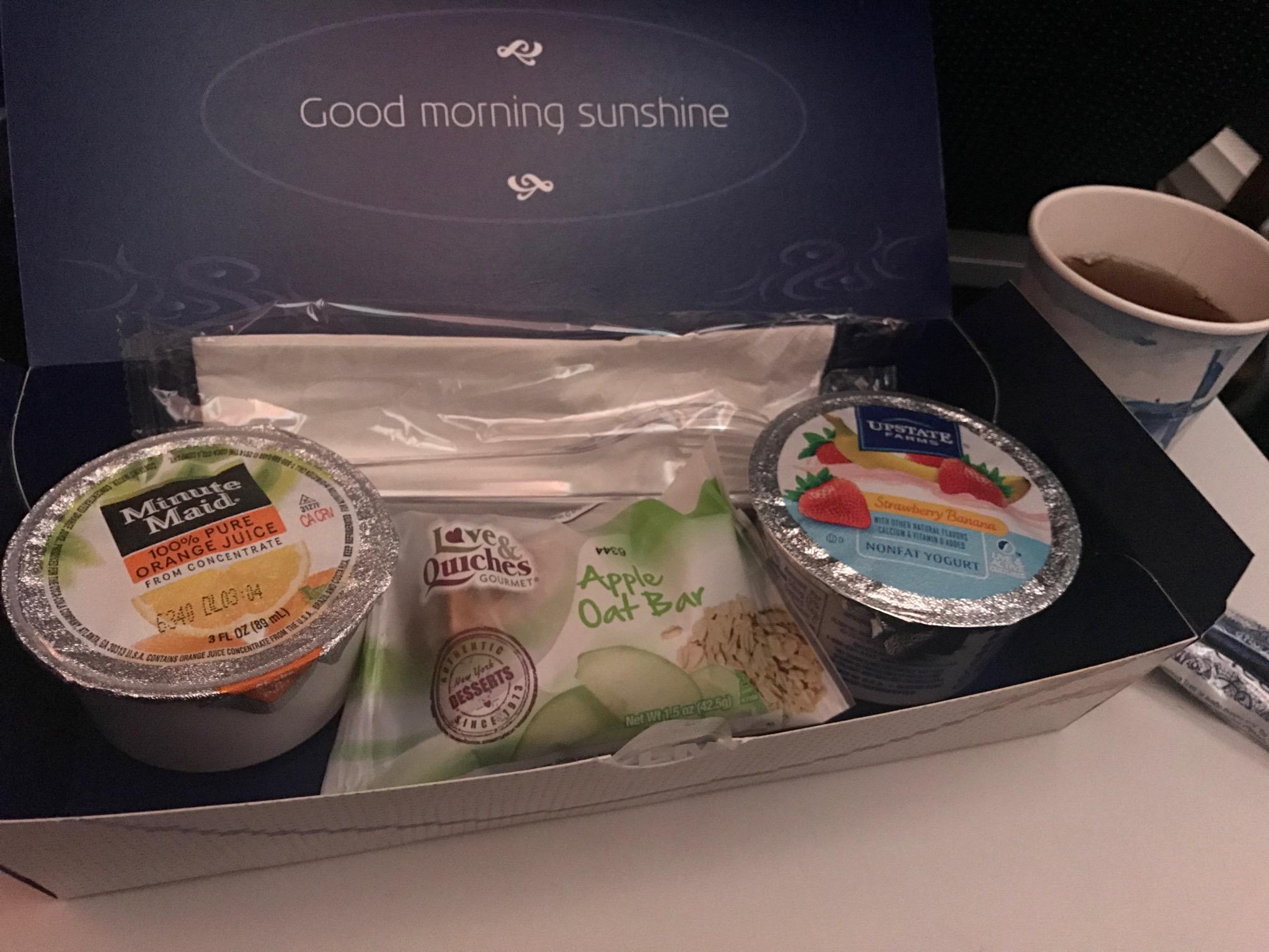 KLM breakfast